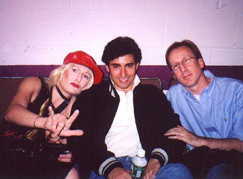 """Becca Ayers as Jackie, John Lloyd Young as Orlando and Kenny Boys as Freddy Duke in the 2002 NAMT """"In The Wings"""" presentation."""