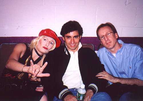 "Becca Ayers as Jackie, John Lloyd Young as Orlando and Kenny Boys as Freddy Duke in the 2002 NAMT ""In The Wings"" presentation."
