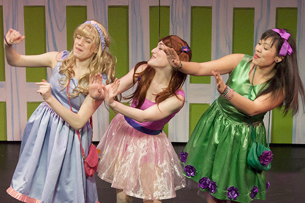 Pictured: Lora Nicolas, Laura Weiner, Madison Turner in the Off-Broadway Alliance Award-winning production of StinkyKids® the Musical at Vital Theatre (photo by Steven Rosen).